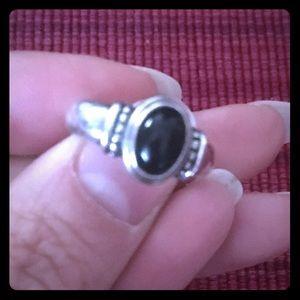 Retired James Avery Black Onyx Ring